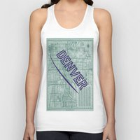 denver Tank Tops featuring Denver by Dweezle