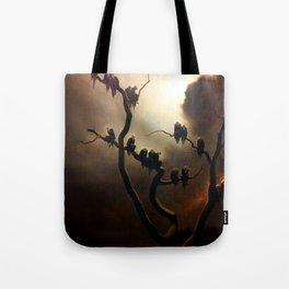 Vivid Retro - Ghosts in a Tree Tote Bag