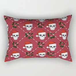 Skull Christmas pattern Rectangular Pillow