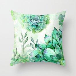 Irish Mint Garden Throw Pillow