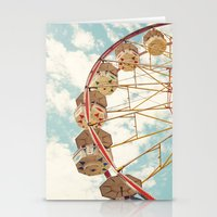 ferris wheel Stationery Cards featuring ferris wheel by Sylvia Cook Photography