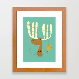 A moose ing Framed Art Print