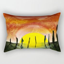 NEOLITHIC OTHERWORLDS Rectangular Pillow