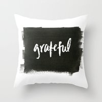 grateful dead Throw Pillows featuring grateful by Social Proper