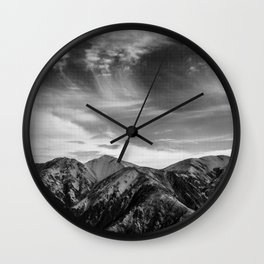 Mount Hutt Sky Wall Clock