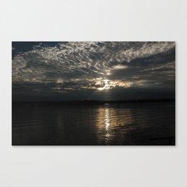 Silvery Sunset Canvas Print