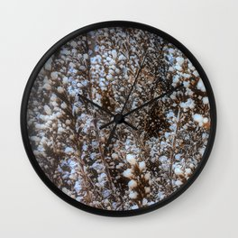 Frost On Heather And Wild Grasses Wall Clock