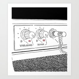 Guitar Amp turned to Eleven Art Print
