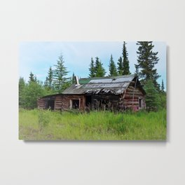 Alaskan Frontier Cabin Metal Print