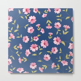 Flower samless pattern. Metal Print