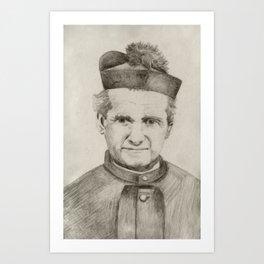 St. John Bosco portrait Art Print