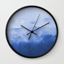 Explore The Blue Mountains At Full Moon Wall Clock
