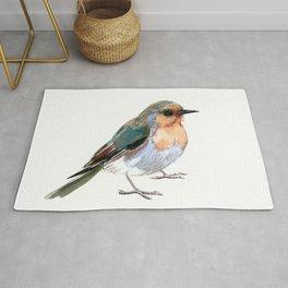 Robin bird children illustration design Rug