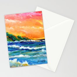 Romantic Kauai Sunset Stationery Cards