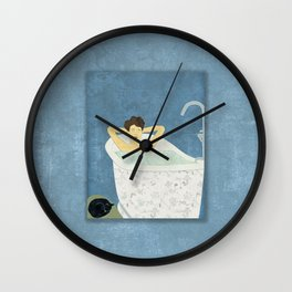 Bathtub Scene Wall Clock
