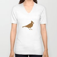 cardinal V-neck T-shirts featuring Cardinal by JessaDee`Designs