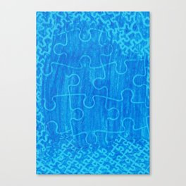 Life is a puzzle 7 Canvas Print