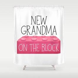 New Grandma On The Block Shower Curtain