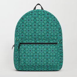 Emerald crystal pattern Backpack