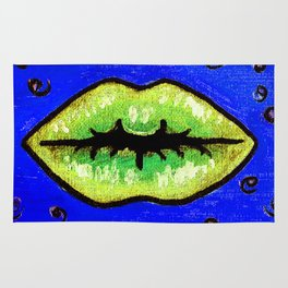 Lime Squeeze POP Lips Rug