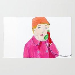Doris Day on the phone Rug