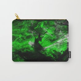 Emerald Blast - Abstract Black And Green Painting Carry-All Pouch