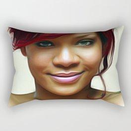 Rihanna - Celebrity (Beautiful Smile Art) Rectangular Pillow