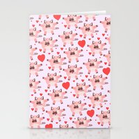 pigs Stationery Cards featuring pigs by elvia montemayor
