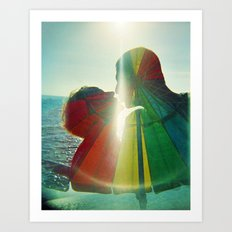 Lovers Kissing - They are Rainbow High Art Print