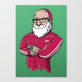 MR.SANTA ( Movember Edition ) Canvas Print