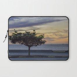 Sunset Scene at Boardwalk in Montevideo Uruguay Laptop Sleeve