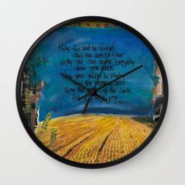 Farmers Blessing by Seattle Artist Mary Klump Wall Clock