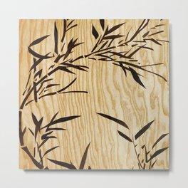 Japanese bamboo buddha wood art Metal Print