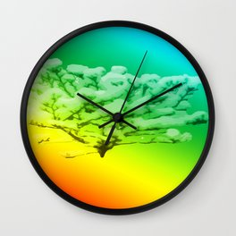 Tree of colours Wall Clock