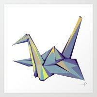 origami Art Prints featuring Origami by Daniela Castillo