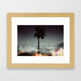 Bokeh Beach  Framed Art Print