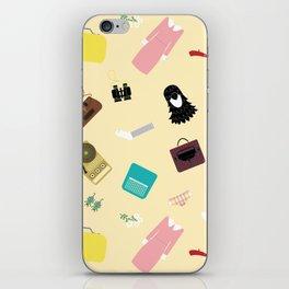 Moonrise Kingdom's Suzy Bishop Pattern iPhone Skin