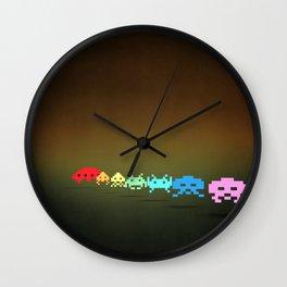 Space Invader - Pixel art Wall Clock