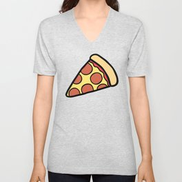 Pepperoni Pizza Pattern Unisex V-Neck