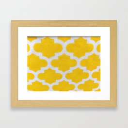 Yellow Cross Pattern Framed Art Print