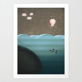 Flight of the Axolotl Art Print