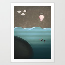 Flight of the Axolotl Art Print