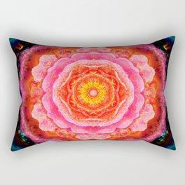 Mystical Rose Mandala Rectangular Pillow