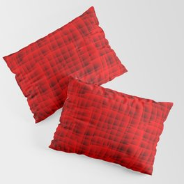 Square intersections red lines on a dark tree. Pillow Sham