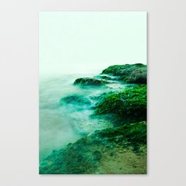Green Waterscape Canvas Print