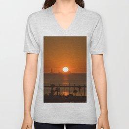 Sunrise in Corpus Christi Unisex V-Neck