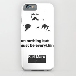 Karl Marx quote 5 iPhone Case