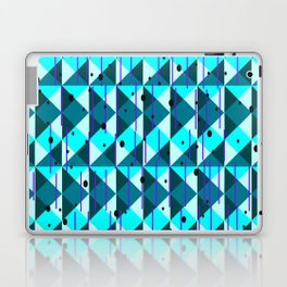 Geometric Pattern in Blue Laptop & iPad Skin