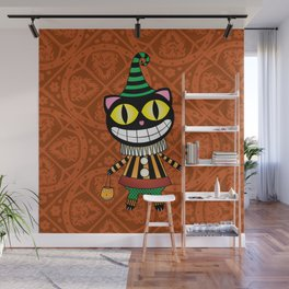 Cassius.Halloween cat Wall Mural