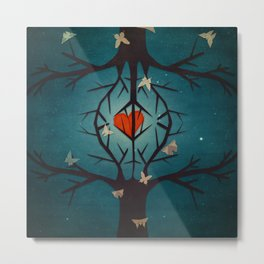 heart tree Metal Print